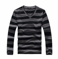 New Hot Arrival 2016 Men S Long Sleeved Cotton Stripes Sweater Fashion And Hot Pullover Men