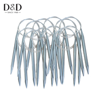 D&D 2017 High Quality Stainless Steel Tube Smooth Circular Knitting Crochet Hooks Needles Sets Tool Craft DIY 10mm/6mm/4mm
