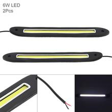 2pcs12V LED Daytime Running Light Straight Strip Lamp White Light Waterproof Auto Car DRL COB Driving Fog Lamp for Motor ATV SUV auto car led daylights drl daytime running light driving lamp set for ford focus 2015 white us