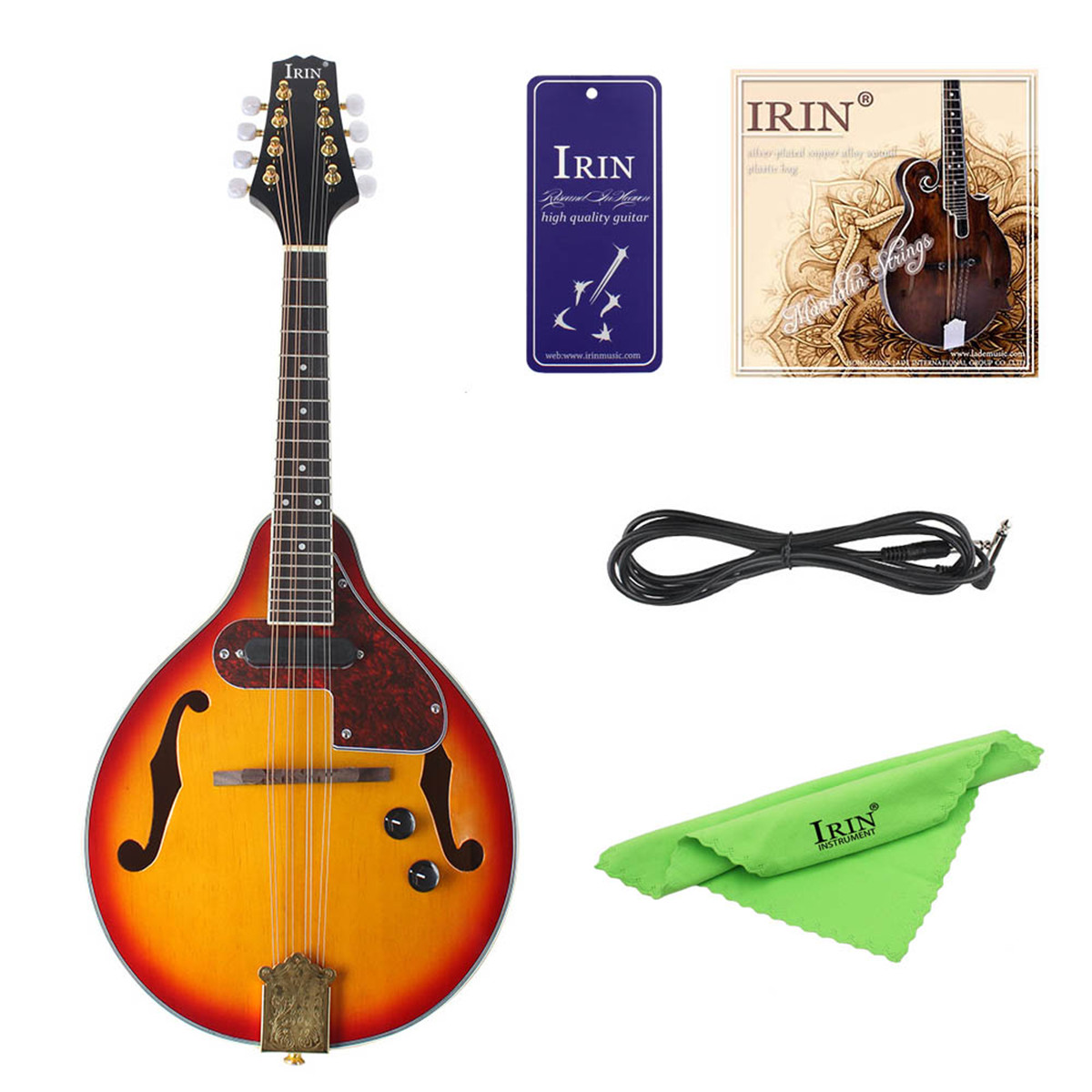8-String Electric Mandolin  A Style Rosewood Fingerboard Adjustable String Instrument With Cable Strings Picks Bag Rosewood