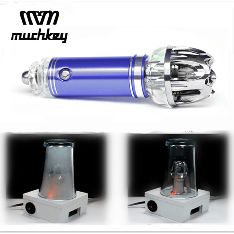 Muchkey Car Air Purifier 12V Negative Ions Air Cleaner Ionizer Air Freshener Auto Dust Smoke PM2.5 Eliminator Car Home Office