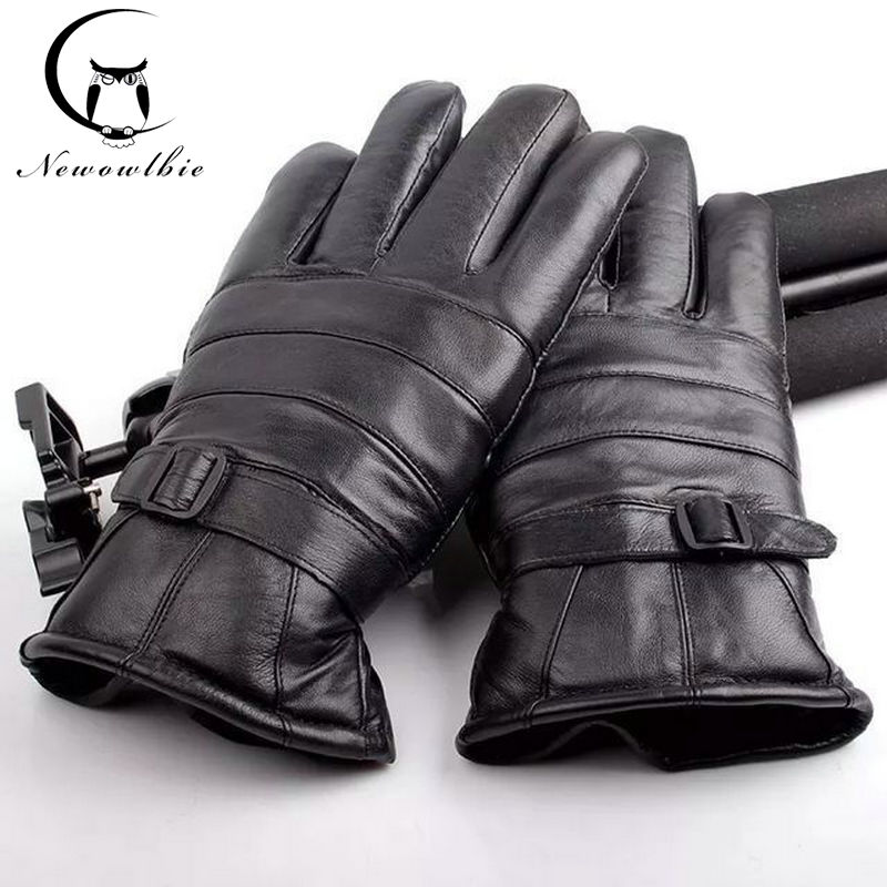 2019 нові чоловічі зимові теплі рукавички на відкритому повітрі спортивні рукавички потовщення якісні рукавички з овчини