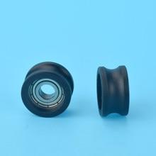 R5* 16*8,5 мм U Тип паз шкив колеса нейлоновый мешок пластиковые колеса мешок пластиковый встроенный подшипник