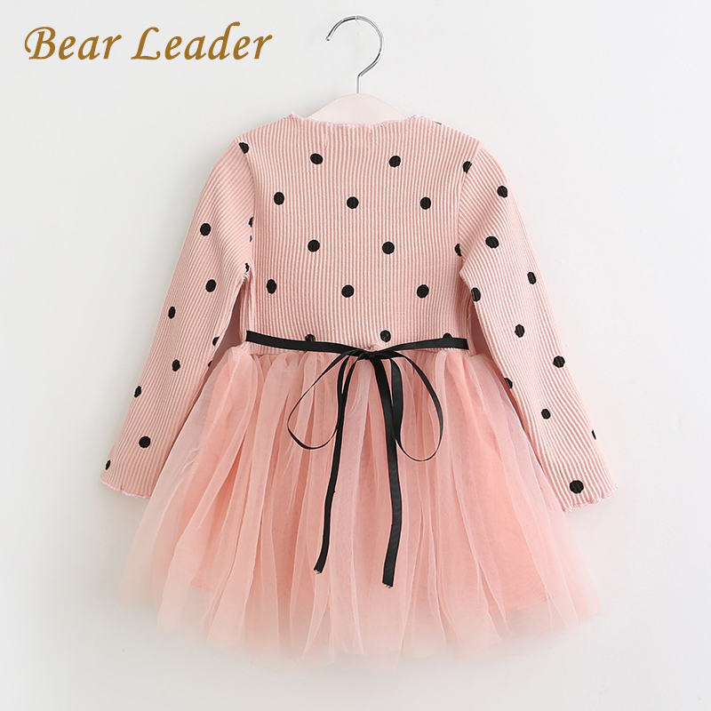 Bear Leader Girls Dress Princess Dress 2017 Brand Girls Dress Children Clothing Ball Gown Dot Print Kids Clothes Girls Dresses