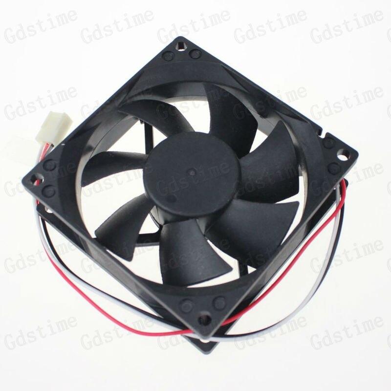 100Pcs Gdstime 3 Pin Connector DC Brushless Fan 12V 80mm Fan 80x80x25mm Machine Case Heatsink Cooling Fan 80*25mm 8025 Wholesale