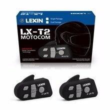 Lexin 2PCS 800M Noise Reduction Bluetooth Motorcycle Snowmobile Helmet Intercom Headset For Phone/GPS/MP3 Intercomunicador