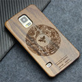 Wooden Product Hot sunflower Carvings For Samsung Galaxy S5 Case Wood Bamboo Cover with Elegant Pattern Engravings