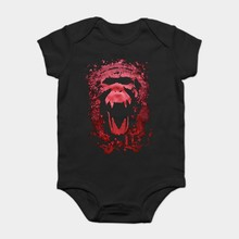 Baby Onesie Baby Bodysuits kid t shirt 100% 12 Monkeys Skull Black Printing Design Cotton Tees Free Shipping(China)