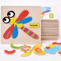 Деревянные Развивающие Игрушки Игры Дети Животных Головоломки для Детей Подарки ute головоломки игрушки juguetes educativos W236