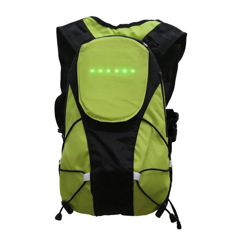 Nouveau Design 18L sacs de randonnée en plein air sécurité cyclisme LED sans fil télécommande clignotant lampe d'avertissement sac à dos #2H05