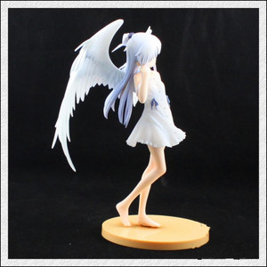 Image 4 - 1/8 Scale Anime Angel Beats Action Figure Tenshi Tachibana Kanade Angles Wings White Dress Ver Can Be Off PVC Sexy Doll 20cm