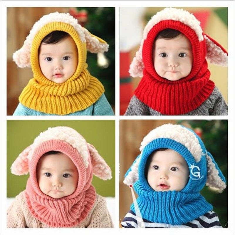 50pcs Christmas 2016 Teenager Winter Knit Fur Hat Big Girls Boys Fur pompoms Ball Baby Beanies Cap Kids Crochet Knitted Hats
