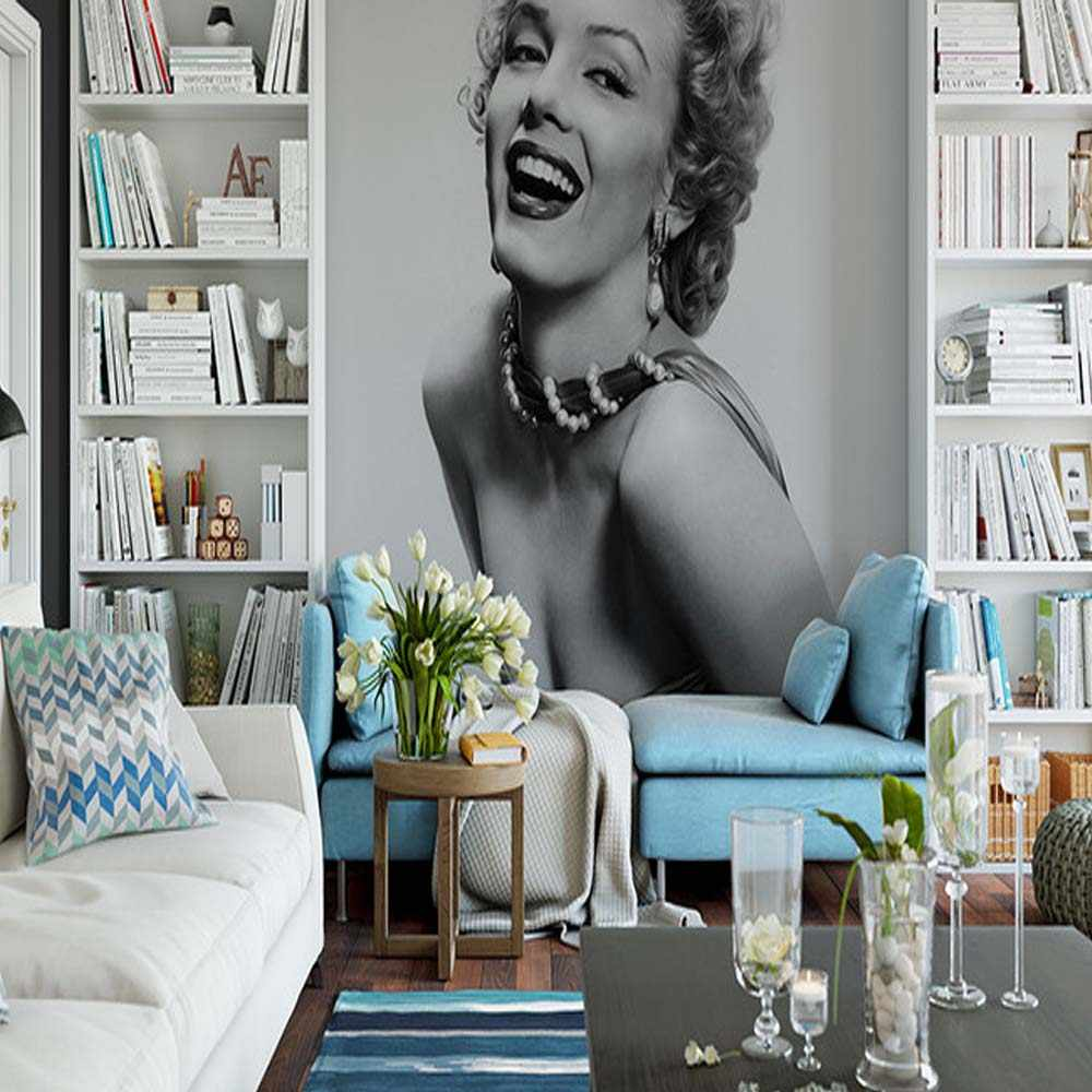 Marilyn Monroe Girl Wall Mural Photo Wallpapers Bedroom Vinyl Wall