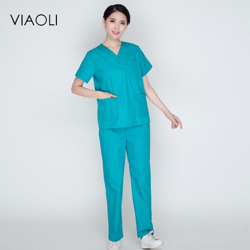 Viaoli New plus size WoMen\'s V neck Summer Nurse Uniform Hospital ...