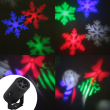 Snowflake Projector 3W Halloween Christmas Light 2 Pattern Lens LED Party Light KTV Bar Stage Lighting for Kids Xmas Gifts(China)