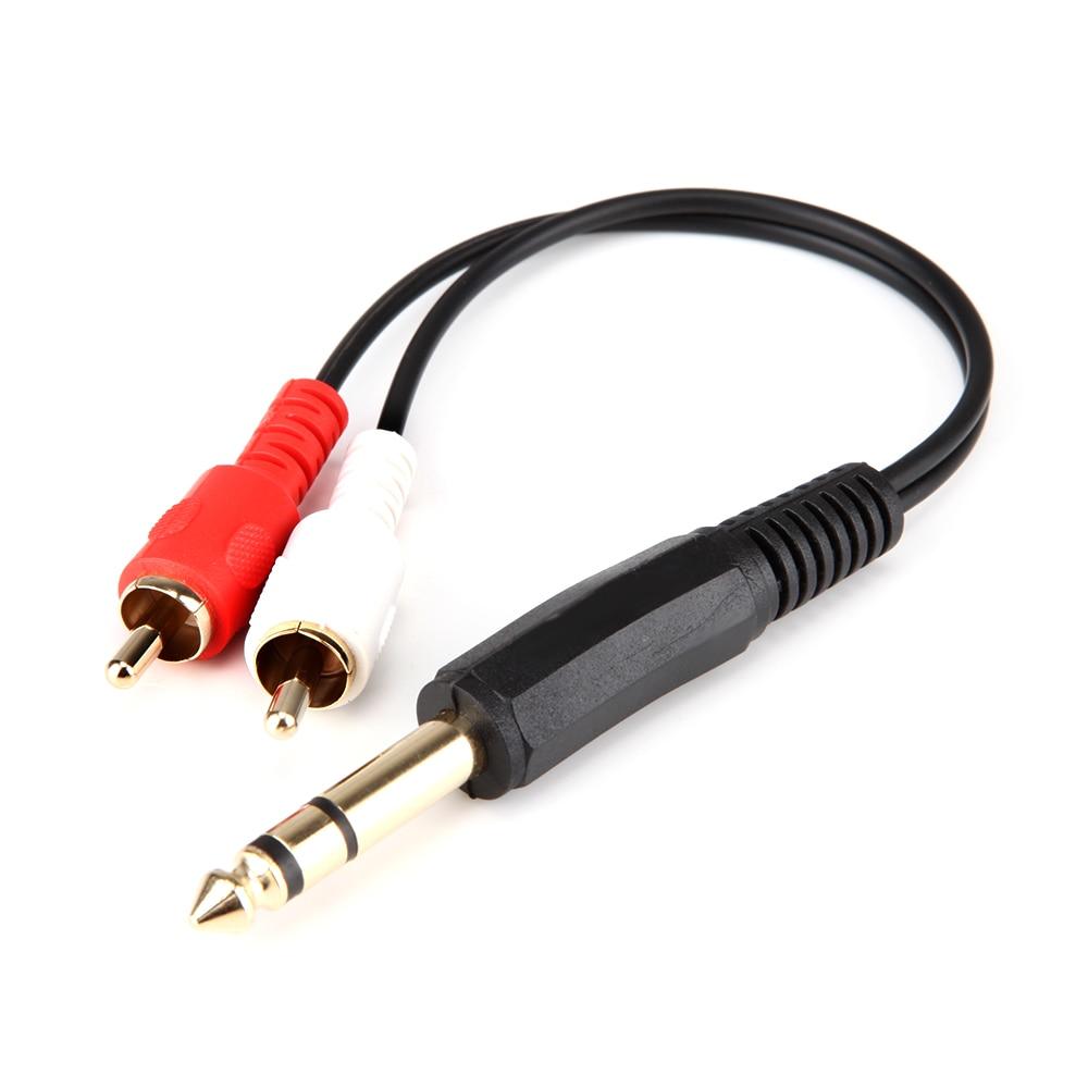 20cm 6 35mm 1  4 U0026quot  Jack Male To 2 Rca Male Plug Binaural