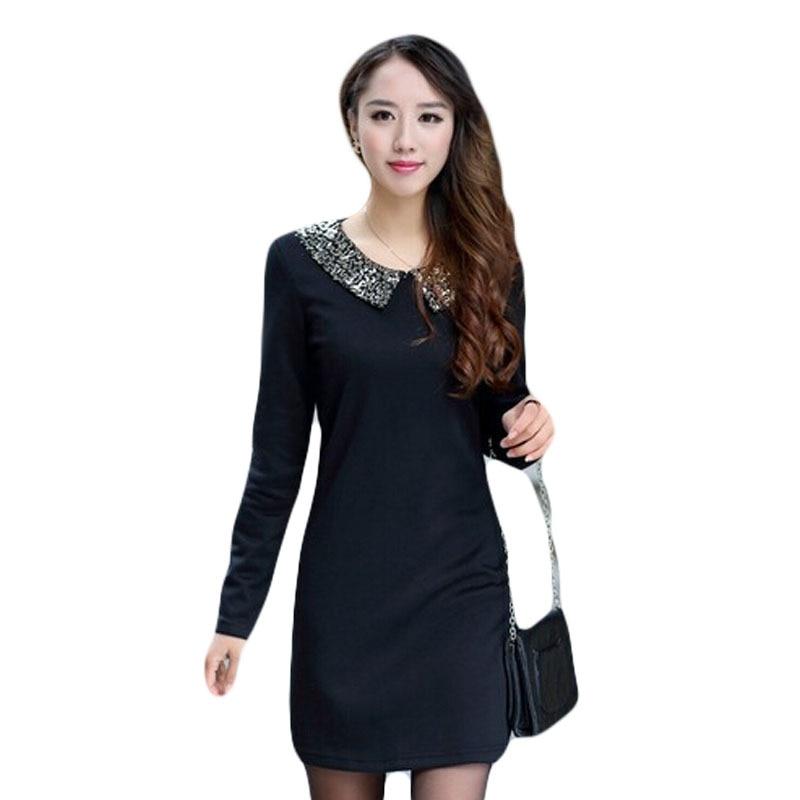 Long-Sleeved Dress Plus Size Casual Wears
