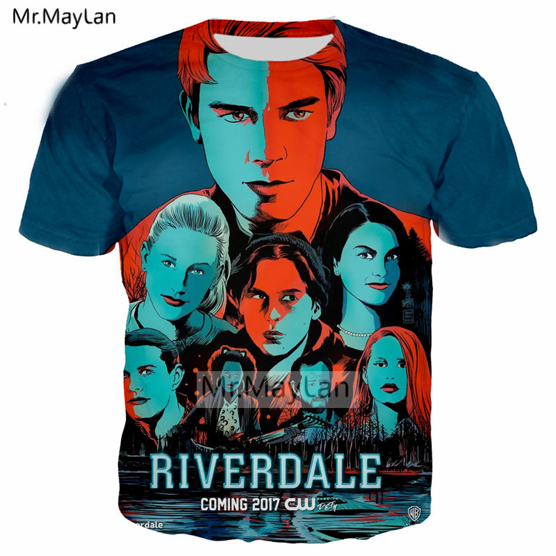 Hot TV Riverdale 3D Print Tshirt Men Women Vintage Streetwear T shirt Boy Modis T shirt Tops Bllue Clothes poleras hombre 2018 in T Shirts from Men 39 s Clothing