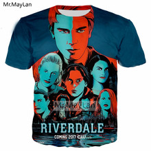 Hot TV Riverdale 3D Print Tshirt Men/Women Vintage Streetwear T-shirt Boy Modis T shirt Tops Bllue Clothes poleras hombre 2018