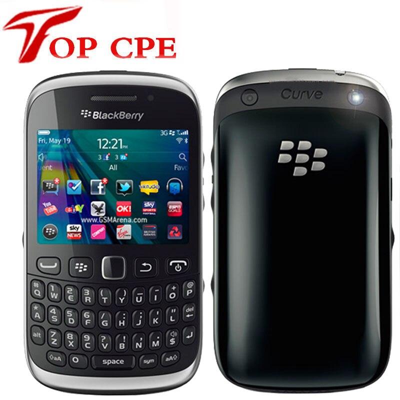 Débloqué BlackBerry Curve 9320 Original GPS WIFI GSM 3G téléphone remis à neuf QWERTY clavier WIFI 3.2MP téléphone portable livraison gratuite