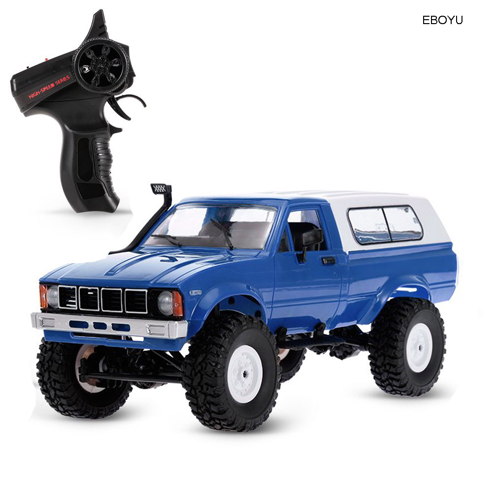 EBOYU <font><b>WPL</b></font> <font><b>C24</b></font> 1:16 2.4GHz 4WD RC Car with Headlight Remote Control Crawler Off-road Pick-up Truck RTR Toy image