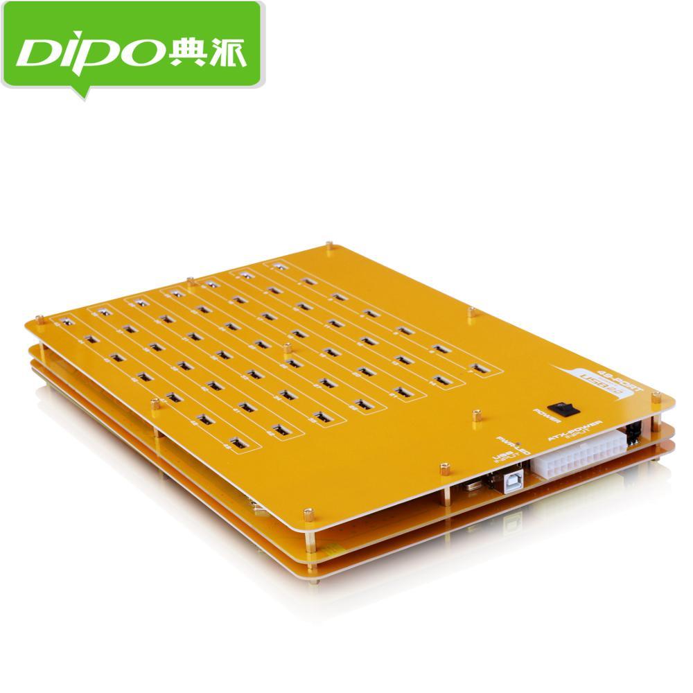 DIPO 2 4 7 10 16 19 20 49 Port USB-Hub USB 2.0 Hub-Ports für - Computer-Peripheriegeräte - Foto 3