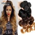 Ombre Malasio 6a Malaysian Virgin Hair Body Wave 4 Bundle Ofertas Vip Belleza Del Pelo Ombre Tres Tonos Extensiones de Cabello Humano