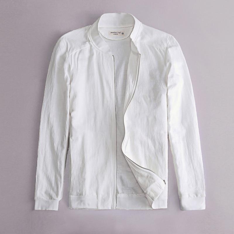 Printemps Automne Italie slim fit veste hommes lin blanc vêtements - Vêtements pour hommes - Photo 1