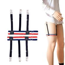 f4b425cb4 Unisex Shirt Stays Holder Elastic Leg Girdle Gothic Shirt Crease-resistant  Thigh Ring Nylon Comfortable Suspender Shirt Garters