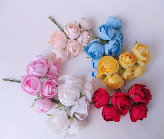 Artificial flowers head small bouquet of rose tea bud simulation artificial flowers head small bouquet of rose tea bud simulation flower silk flower corsage diy wreath mightylinksfo Choice Image