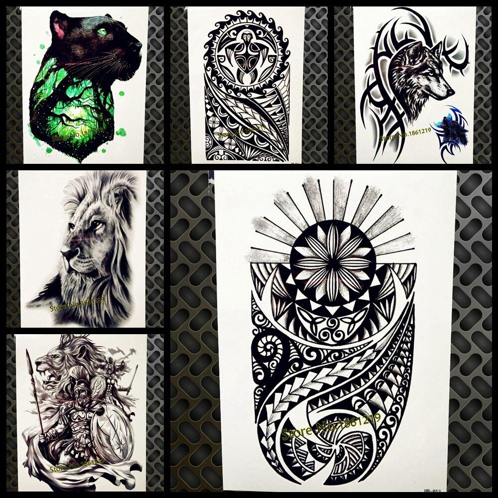 Tribal-Tattoos Indian-font-b-Tribal-b-font-Waterproof-Temporary-font-b-Tattoo-b-font-Stickers-Black-Body