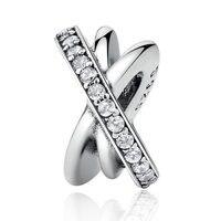 Galaxy, Clear CZ Charm 925 Sterling Silver European Bead Fit Pandora Bracelets &Necklace SP00182