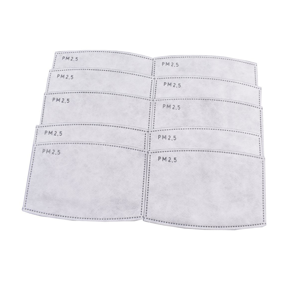 * Tcare 10pcs/Lot PM2.5 Filter paper Anti Haze mouth Mask anti dust mask Filter paper Health Care 61