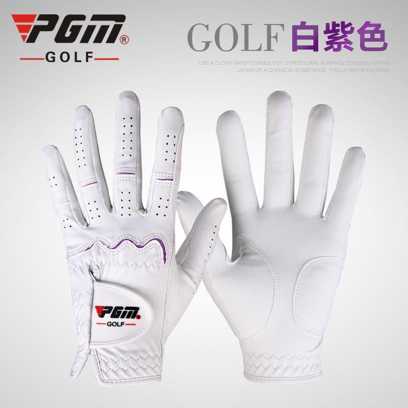 wholesale- PGM Ladies Golf Gloves nano cloth gloves women breathable anti slip golf Sports gloves 2colors