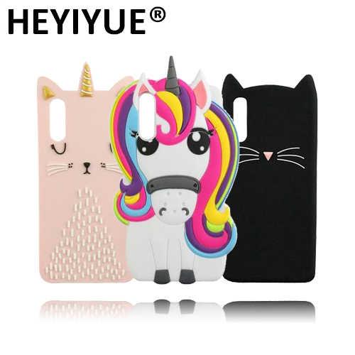 Высокое качество Мультфильм Единорог Пони кошка маленький Стич мышь силиконовый для мобильных телефонов Чехол для huawei P20