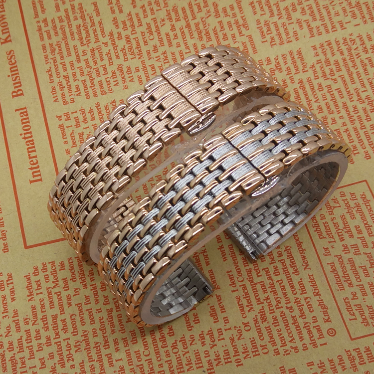 Thiner Watchband Stainless Steel Metal Watch Straps Silver  Rosegold Fashion Quartz Watch Men Womens Accessories 18mm 20mm 22mm gold watchband for luxury watches brand stylish watches accessories 18mm 20mm 22mm fashion thiner bracelets promotion price new