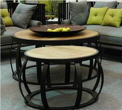 Vintage kleine ronde tafel, ronde salontafel fashion eenvoudige ...
