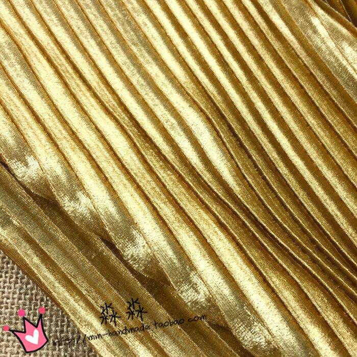 ̀ •́ 1psc осеннее платье ткань аристократической золотой свет ... 92e0c703511