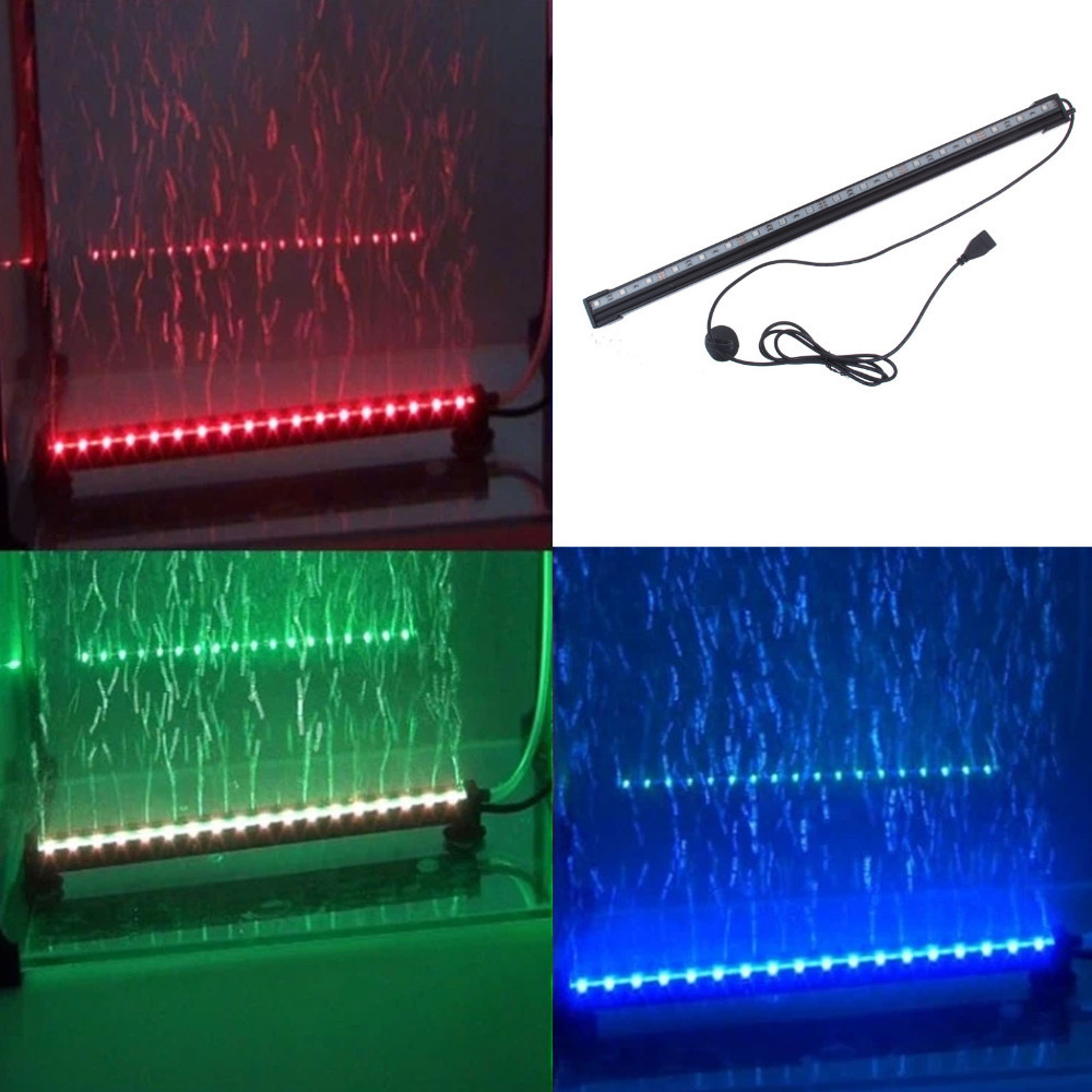 underwater rgb led light 18 led colorful air bubble led. Black Bedroom Furniture Sets. Home Design Ideas