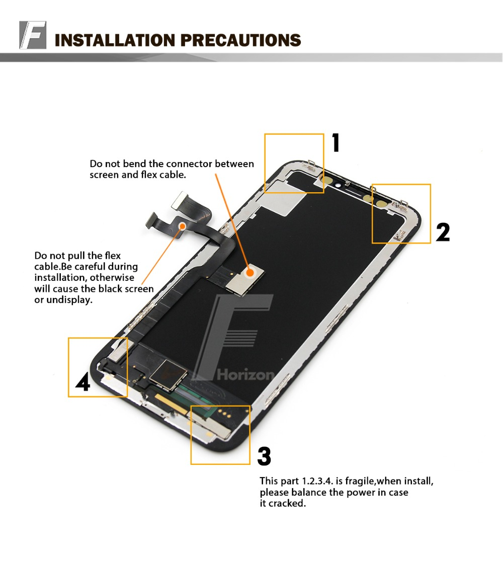 Wholesale 3 pcs/LOT Grade AAA Quality For iPhone X LCD Display Touch Digitizer 100% Test With Tools kit Free Shipping