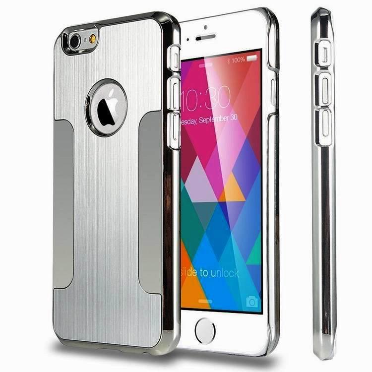 96bcc24e5f 2017 Nouvelle Arrivée Vente Chaude De Luxe En Alliage D'aluminium Ultra  Mince En Métal Dur Retour Cas de Couverture de Peau Pour Apple iPhone 6 6 s  i6 4.7 ...