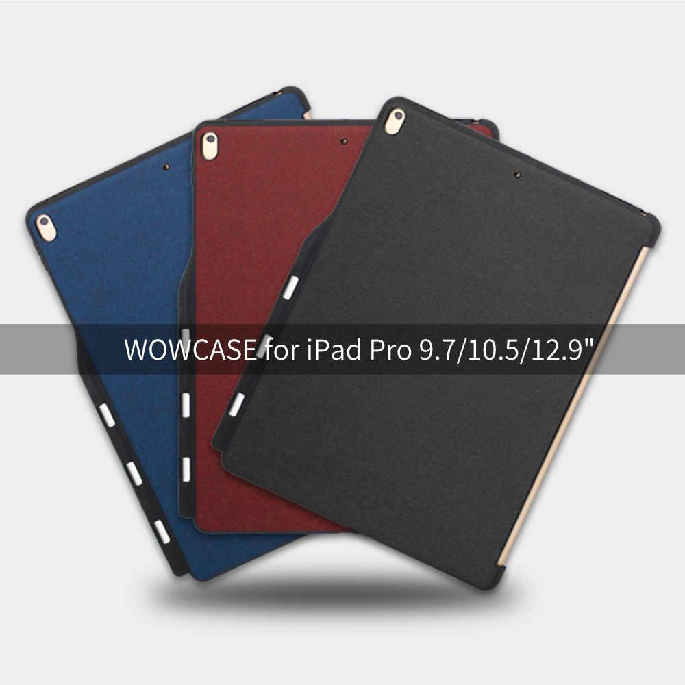WOWCASE протектор чехол для iPad Pro 12,9 карандаш держатель ультра тонкий мягкий край защитный чехол для iPad Pro 12,9 2017/2015