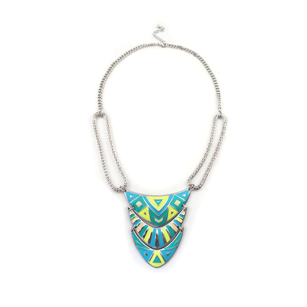 Exotic fashion jewelry - European And American Trade Jewelry Wholesale Fluorescent Yellow Texture Exotic Short Necklace Candy Necklace