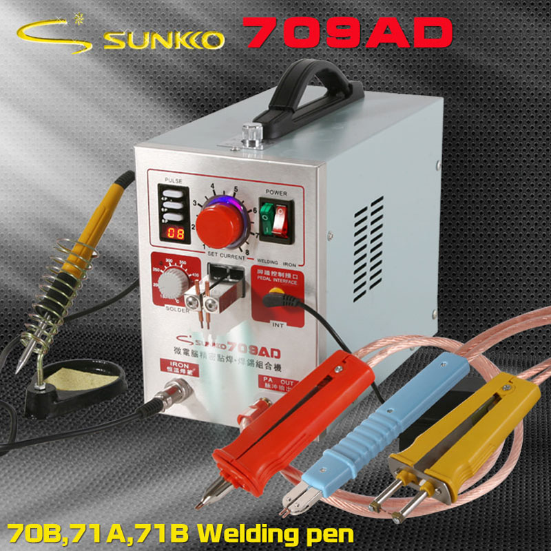 709AD Battery Spot Welder Welding Machine for Lithium Battery Pack with Soldering Function 1.9 kw+HB 71A HB71B HB 70B pen