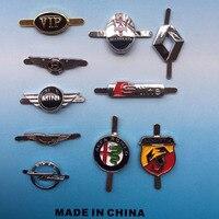 KUNBABY 100 Pcs Aluminum Alloy Car Logos Stickers Badge For Key Case Wallet Bag Key Chain