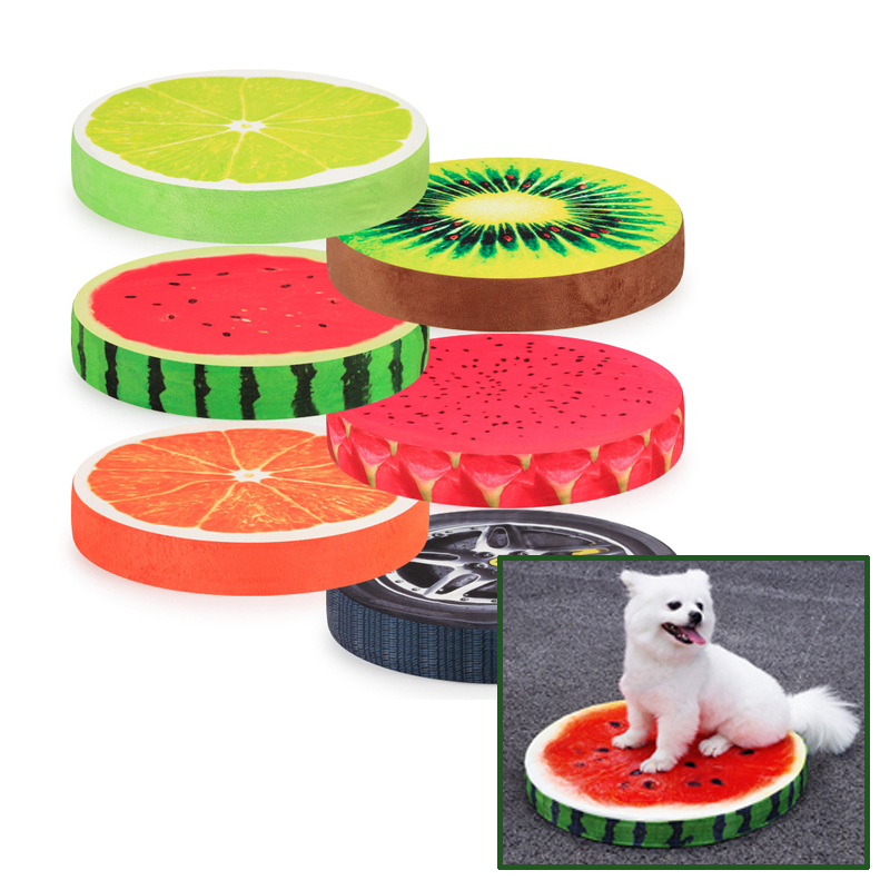 Pet Mat 3D Fruits Summer Practical Dog Cat Mat Comfortable Dog Pet Bed Removable and Washable Large Small dog cat Cute Bed 30E
