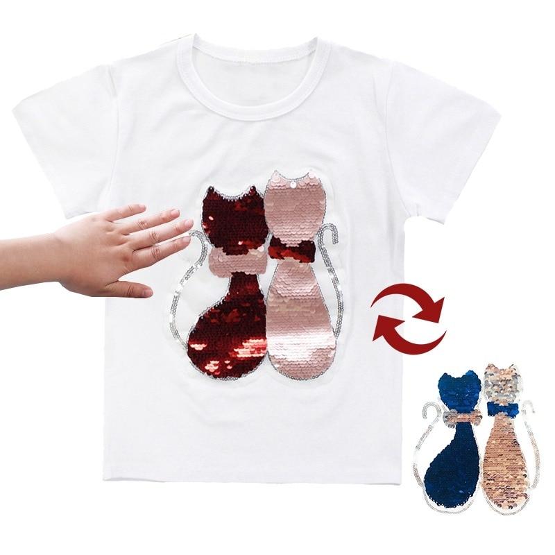 776f5f838c277 🛒 [BEST DEAL] | T Shirts For Girls Sequins T Shirt Girls Cartoon ...