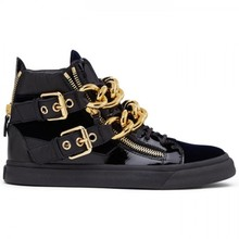 newest 2018 autumn winter shoes men black suede leather flats ankle boots gold metal chain decor fashion casual shoes size 46