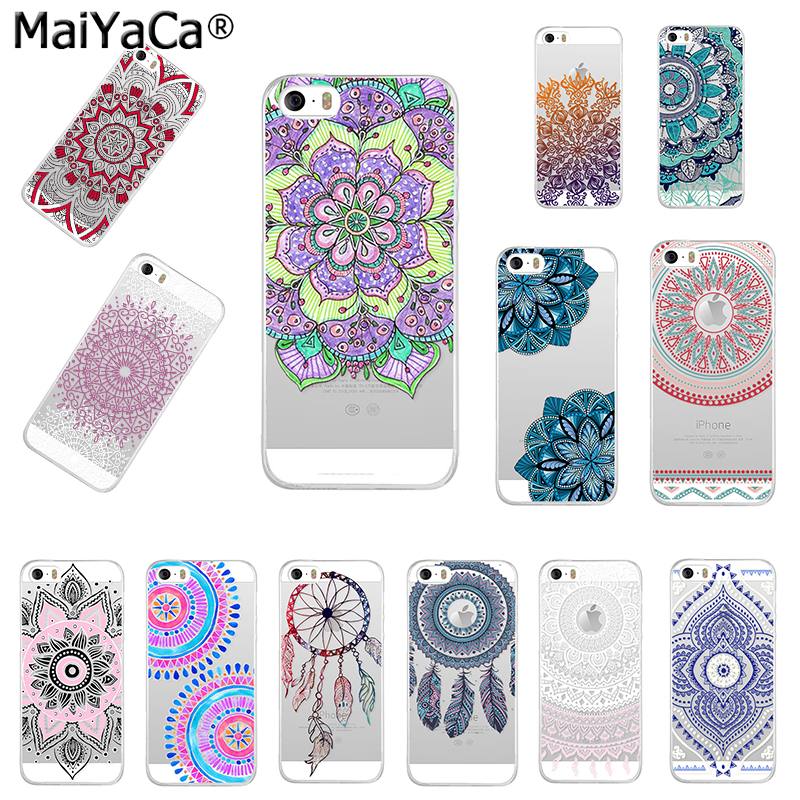 MaiYaCa Mandala flowers dream catcher TPU Soft Phone Case Accesorios - Accesorios y repuestos para celulares