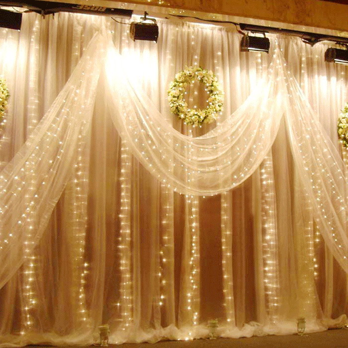 6M x 2.5M String Curtain Light Lamp for Christmas Wedding Party Festival Decoration 220V CLH 5m 50 led string light for showcase courtyard decoration festival celebration